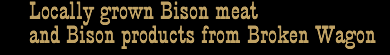 Bison meat and bison products